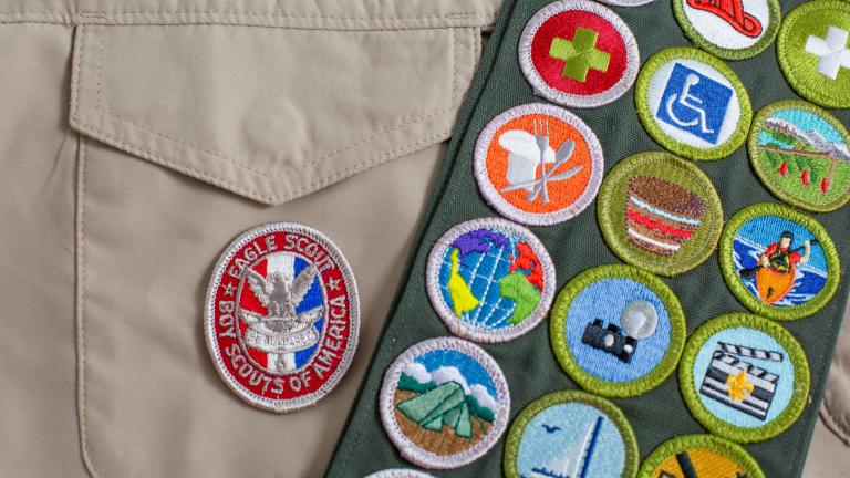 Eagle Patch & Merit Badge Sash