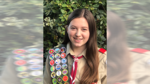 Female Eagle Scout Lauren Swenson-Lennox