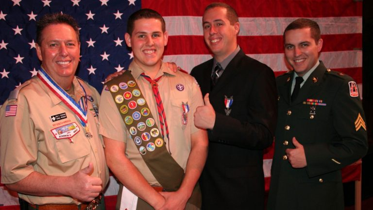 Rick with Eagle Scout sons