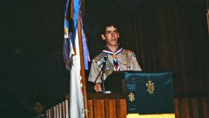 Michael McDowell at Eagle Cost of Honor